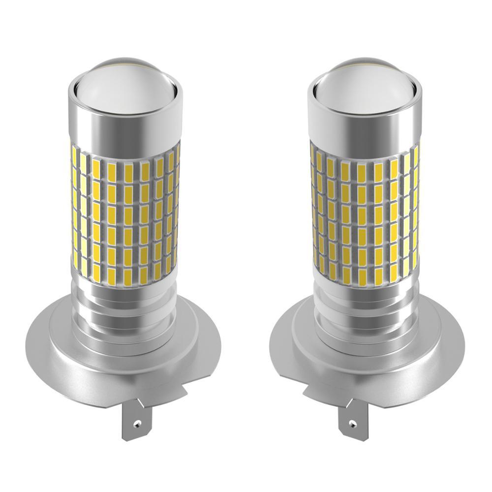 AGILENT 2Pcs Auto teile Nebel Lichter H7 Nebel Lampe 12V birne 3014 chip 144 LEDs highlight 6000K weiß Auto Zubehör led lampe lampen