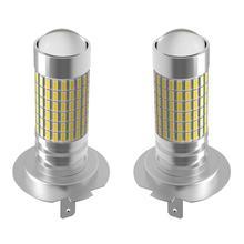AGLINT 2 sztuk Aluminium zimny biały 6000k LED przednie światła przeciwmgielne H7 PX26D żarówki 3014 zestawów układów scalonych liczących nie 144 diody LED wysokiej 12V tanie tanio 12 v CN (pochodzenie) White