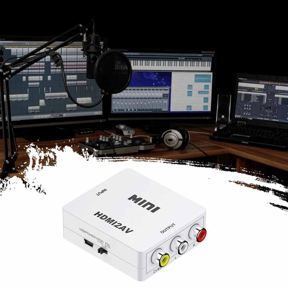 Hdmi Naar Av Scaler Adapter Hd Video Composiet Converter Box Hdmi Naar Rca Av/Cvsb L/R Video 1080P Mini Converter