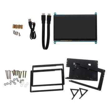 Pojemnościowy Monitor z ekranem dotykowym 1024 × 600 wyświetlacz LCD dla Raspberry Pi 3B 4B tanie i dobre opinie BGEKTOTH 7 inches NONE CN (pochodzenie) Zdjęcie 770D1AA200968 LCM Plastic