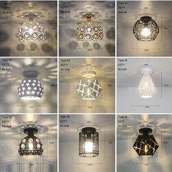 Nowoczesne lampy sufitowe kryształowe Plafondlamp Vintage lampa sufitowa jadalnia Plafonnier salon Loft Lamparas De Techo Moderna