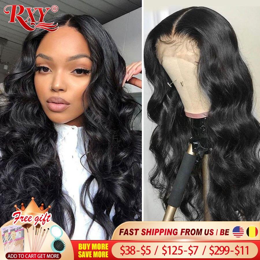 Волнистый передний парик RXY на сетке, плотность 250, парики из человеческих волос на сетке спереди, парик с застежкой без повреждений, 360 натур...