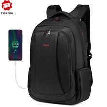 Tigernu mochila con carga USB para hombre y mujer, morral para ordenador portátil de 15,6 pulgadas, escolar, informal