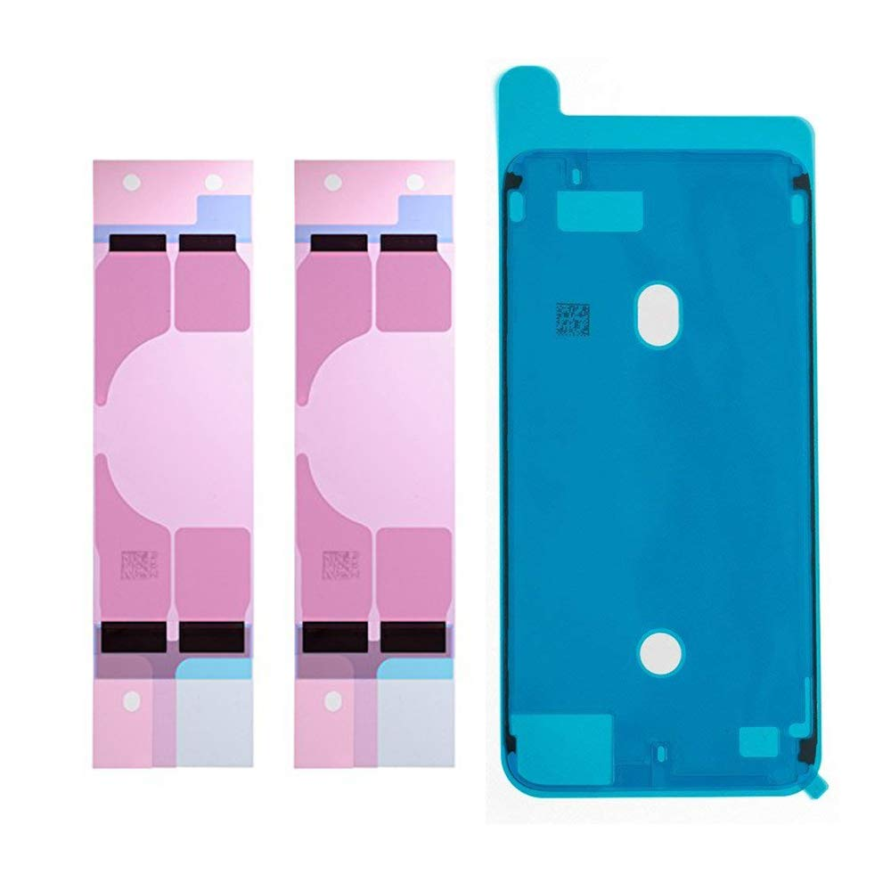 2pcs/SET Battery Adhesive Sticker  + LCD Screen Front Housing Frame Waterproof Seal Glue Sticker For IPhone 7 7p 8 8 Plus X