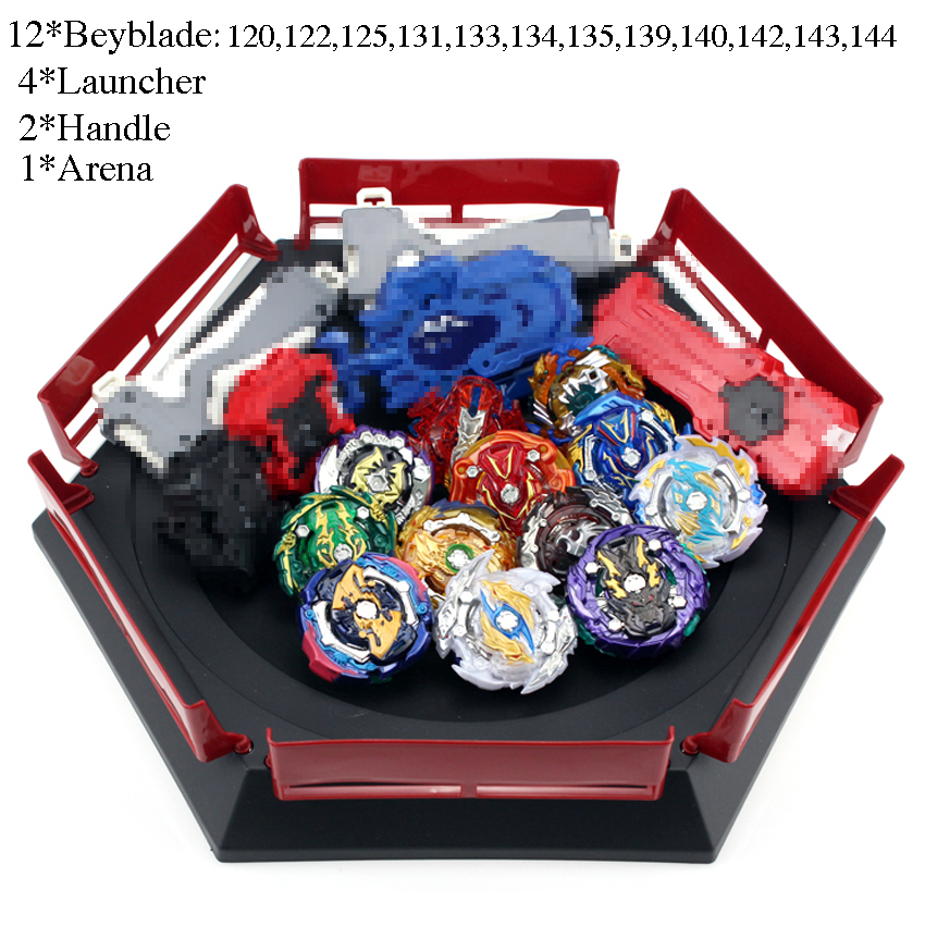 <font><b>Beyblade</b></font> <font><b>Burst</b></font> <font><b>B139</b></font> B144 B145 Toys With Launcher Starter And Arena Bayblade Metal Fusion God Spinning Tops Bey Blades Toy image