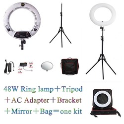 YidobloWhite FS-480II 5500K Dimmable Camera Photo/Studio/Phone/Video 1848W 480 LED Ring Light LED Lamp+ 2M tripod +Soft bag Kit