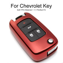 TPU Protection Car Key Cover Case For Chevrolet Cruze 2011 Aveo T300 Captiva Trax Tahoe Onix Camaro Key Chain Ring Accessories