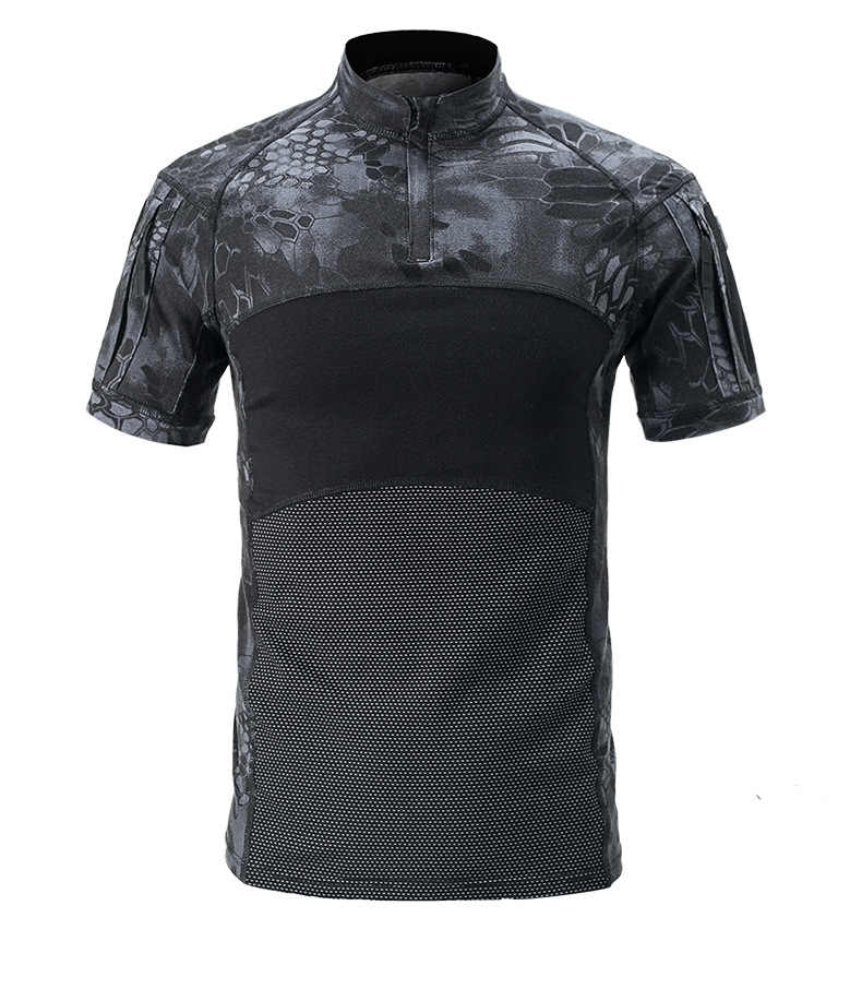 UNS Armee Tactical Military Uniform Airsoft Camouflage Kampf-Bewährte Shirts Schnelle Assault Kurzarm Shirt Schlacht Strike