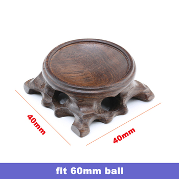 Wood Display Stand for Crystal Glass Lens Ball Large Divination Photography Lensball Base 40 60 80 100mm Big Magic Sphere Holder 13