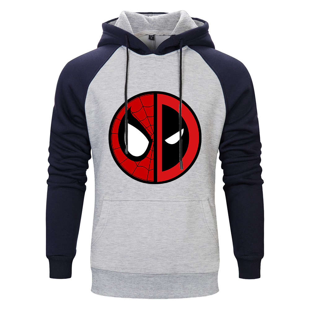 2019 American Deadpool Marvel Movie Men Fashion Brand Raglan Sleeve Hooded Hoodies Clothes Fleece Pullovers Man Sweatshirt Tops
