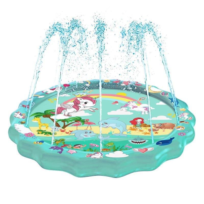 170cm Water Mat Summer Kids Water Play Mat Inflatable Spray Water Games Pad Sprinkler Play Toys Outdoor Tub Swiming Pool