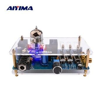 AIYIMA 3.5mm 12AU7 Tube Headphone Amplifier Audio Stereo Class A Mini Pre Amp Headphones Preamp With Tone Control Board