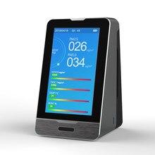 Multifunctionele PM2.5 PM1.0 PM10 Temperatuur Vochtigheid Hcho Tovc Aqi Gas Detector Intelligente Digitale Luchtkwaliteit Monitor