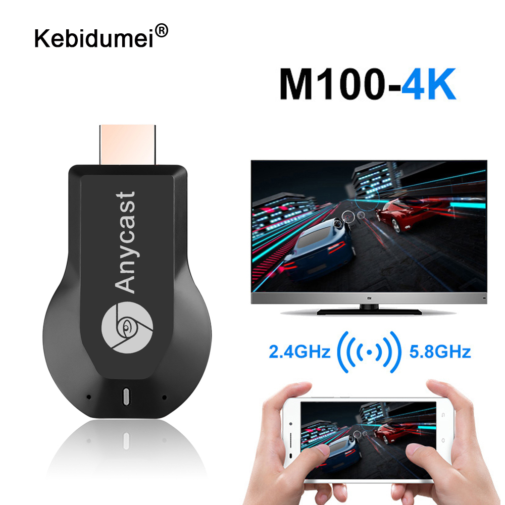 For AnyCast M4 Plus Wireless WiFi Dongle Receiver 1080P Display HDMI Media Video Streamer Switch-free TV Stick For DLNA Airplay