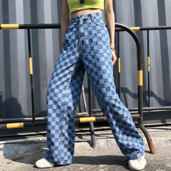Women Plaid Straight Loose Jeans Wide Leg Denim Pants Cool Streetwear Vintage Trousers Harajuku Spring Summer Befree Plus Size носки befree befree mp002xw1ibb0