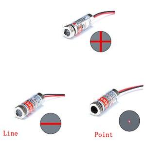 Головка лазерного модуля 650 нм, 5 мВт/50 Вт, красная точка/линия/Крест, стеклянная линза, можно фокусировать, регулируемая Лазерная Диодная гол...