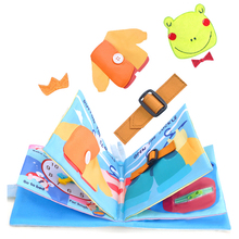 Book-Toys Baby Cloth Shoelaces Tie Know-Time Zippers 3D Early-Learning Fun And Educational