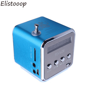Mini Radio Fm Digital Portable Speakers With Am Fm Radio Receiver Support SD/TF Card For Mp3 Music Player USB Charging