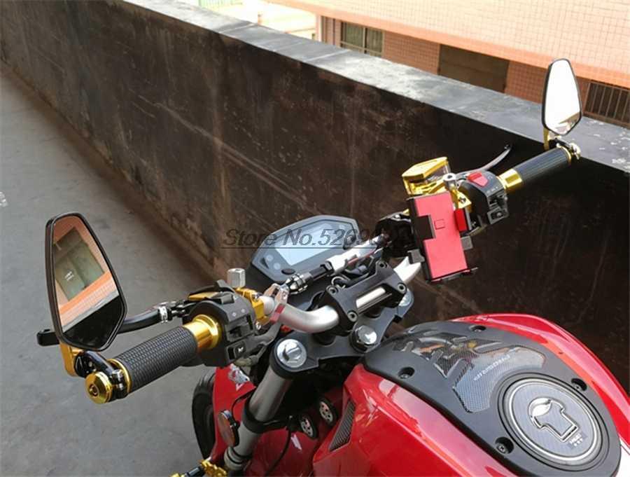 Oryginalne lusterko motocyklowe uchwyt końcowy kierownicy z wodoodporna pokrywa dla Burgman Cbr 600Rr Bmw S1000R 2017 rower sztalugi Gsxr1000