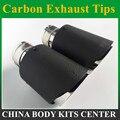 2 шт. простая плетеная матовая углеродистая выхлопная система для автомобиля  глушитель с простым наконечником  выхлопные трубы  универсаль...