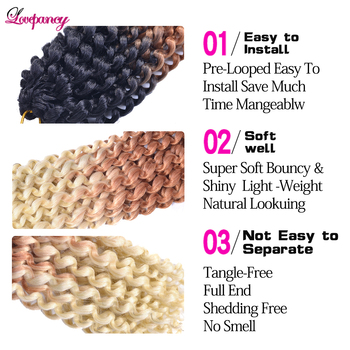 Lovepancy Single Passion Twist Spring Twist Crochet Hair Synthetic Braiding Hair Extensions Hook Braids Hair For African Woman 3