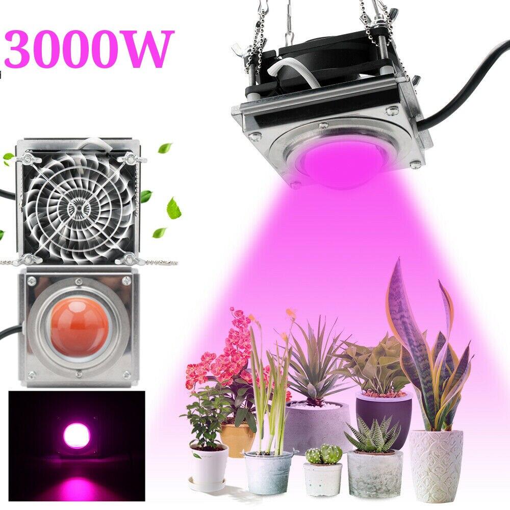Новый 3000 Вт COB светодиодный светильник для выращивания полный спектр 4000K для внутреннего и наружного гидропонного теплицы, светильник для роста растений, водонепроницаемая лампа