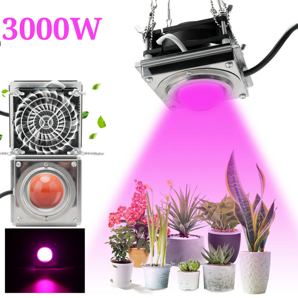 New 3000W COB LED Grow Light Full Spectrum 4000K for Indoor Outdoor Hydroponic Greenhouse Plant Growth Lighting lamp Waterproof(China)