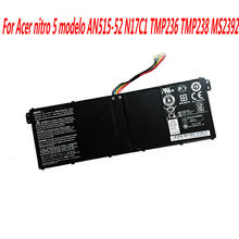 15.2V Bateria Do Portátil Para Acer modelo nitro 5 AN515-52 48WH N17C1 TMP236 TMP238 MS2392