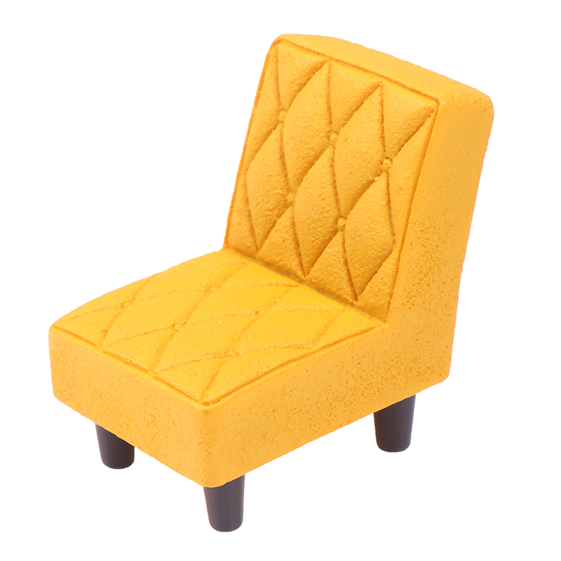 New Arrive Simulation Small Sofa Stool Chair Furniture Model Toys for Doll House Decoration Dollhouse Miniature Accessories 8