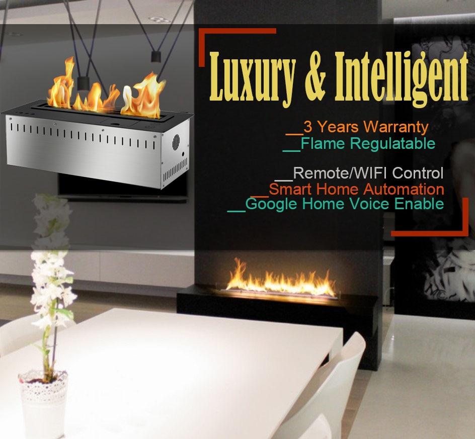 Inno Living 24 Inch Modern Bio Ethanol Fuel Fireplace