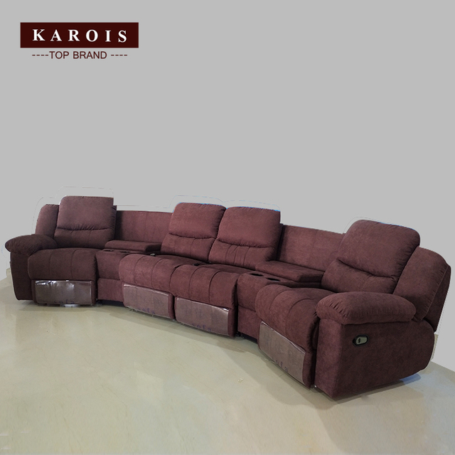 Karois R778 Home Theater Cheers Function Sofa Recliner Fabric Leather Sofa 4 Electric Recline Function 4