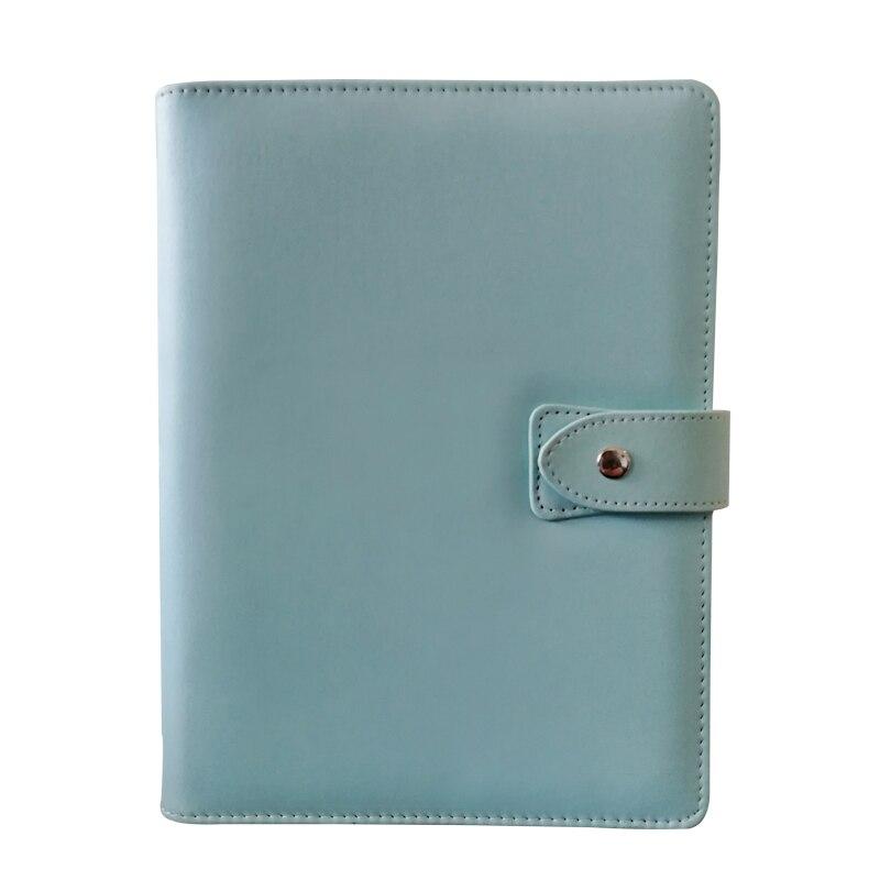 Ring Planner Cover,  A5 6-Ring Loose Leaf Binder Journal  Bujo, Bullet Journal Mint Pink