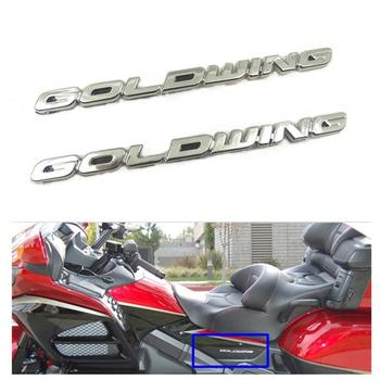 GL 1800 3M ABS 3D bateria ozdobna pokrywka boczna Fairing naklejka naklejka z Logo Symbol Mark Chrome dla Honda Goldwing GL1800 1 para tanie i dobre opinie DONSTOO Motorcycle decoration 0 05kg 0inch For Honda Goldwing GL1800
