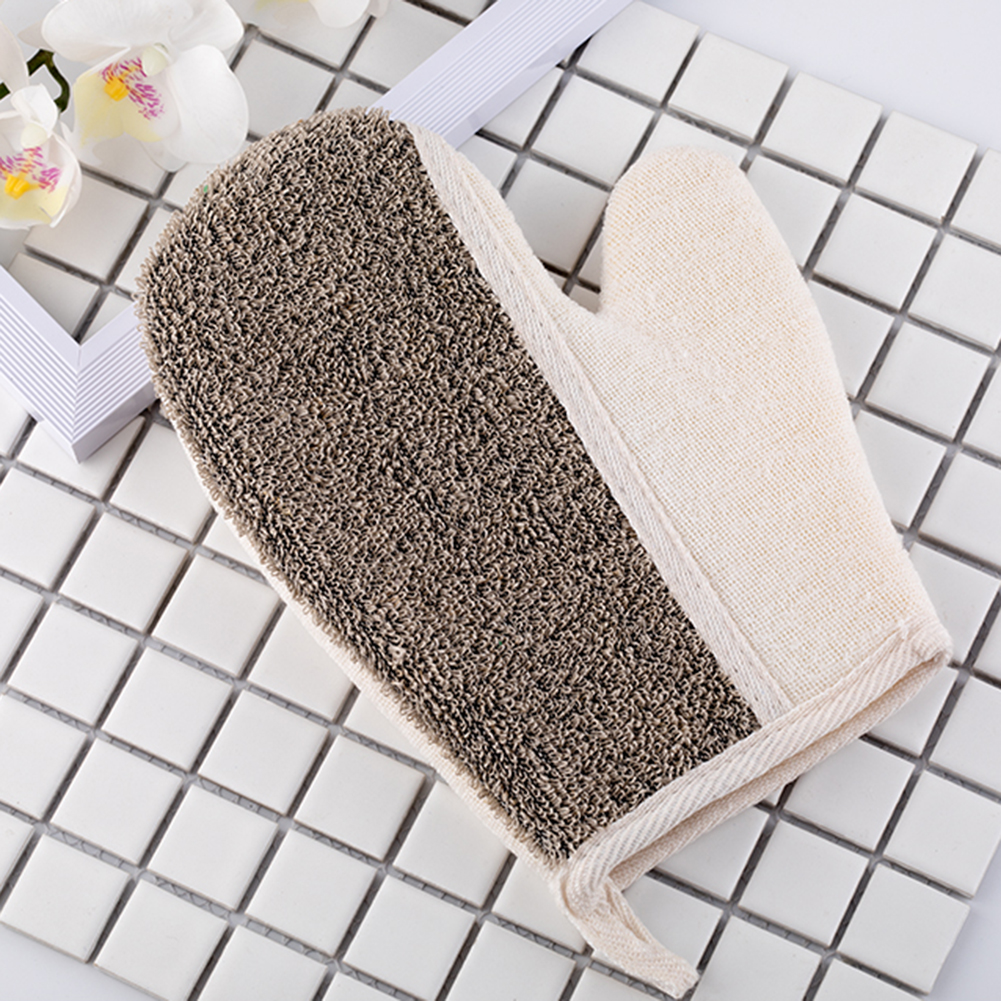Bath Mittens Exfoliating Shower Gloves Dry Spa Antibacterial Health Combo for Dry Skin Cellulite General image