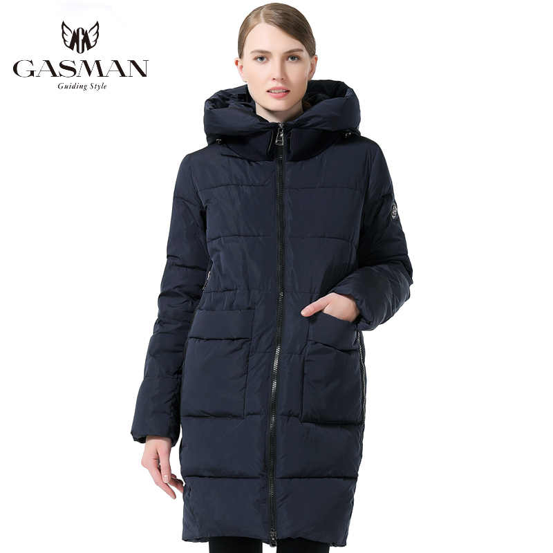 Gasman 2019 Mode Vrouw Winter Kleding Parka Hooded Down Jacket Medium Lengte Casual Winter Verdikking Jas Plus Size 6XL 7048