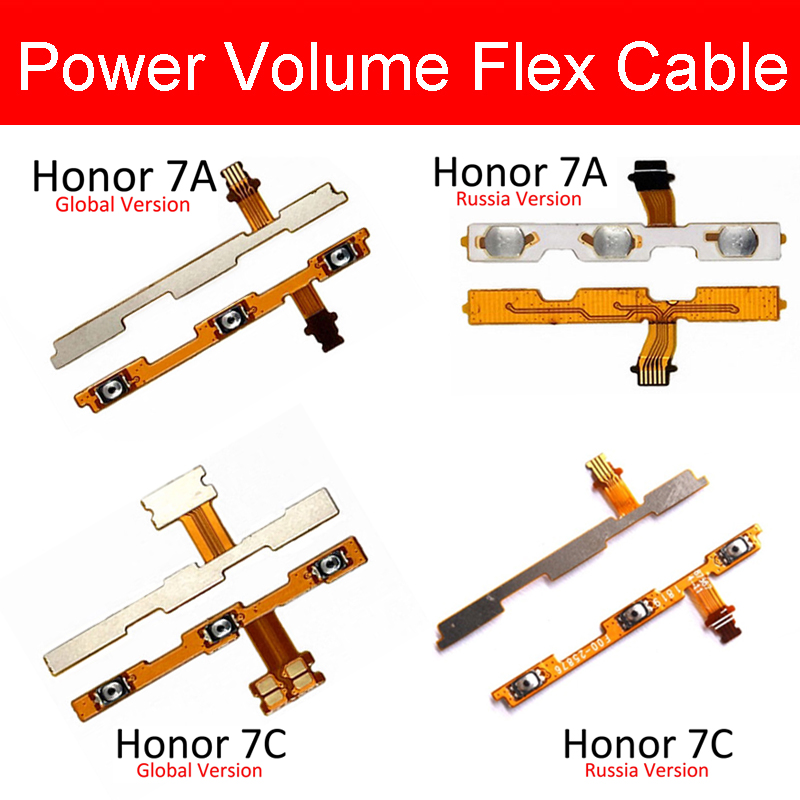 On/off Power Voulme Flex Cable For Huawei Honor 7A/7A Pro AUM-L29/Honor 7C AUM-L41/Honor 7X Volume Power Side Button Flex Ribbon