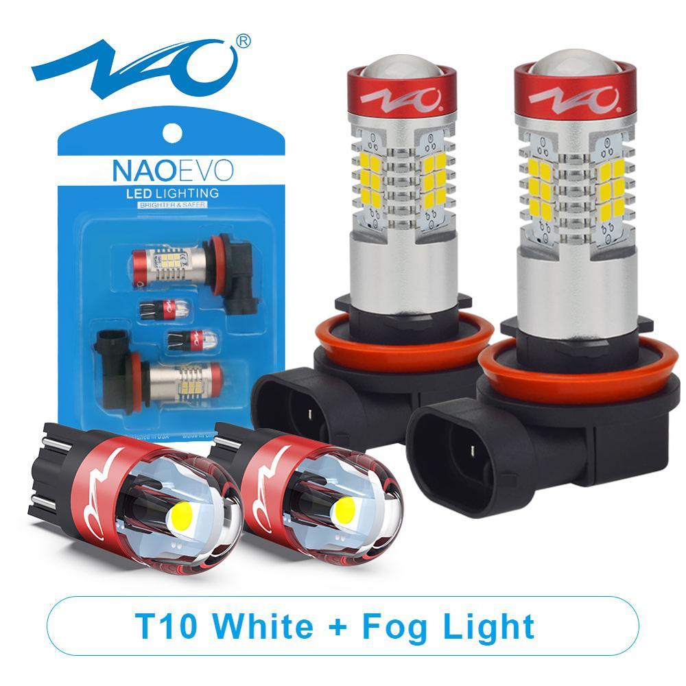 NAO H11 светодиодный HB4 9006 HB3 9005 Автомобильный светодиодный H10 H8 H16 противотуманный светильник W5W лампа H9 2835SMD 2600LM 12V Автомобильная ходовая лампа ...