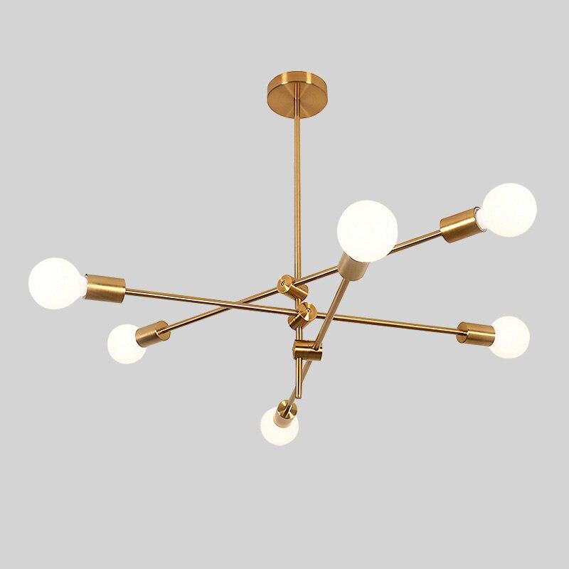 Magiczna fasola żyrandol molekularny obrotowa regulacja luksusowy kolor mosiądzu salon jadalnia sypialnia Ins lampy wiatrowe