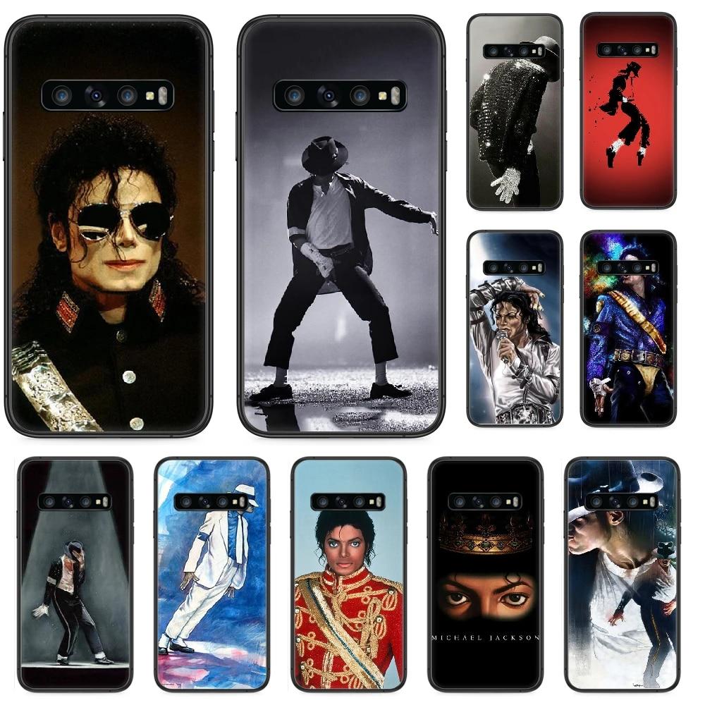 MJ Michael jackson Phone case For Samsung Galaxy S 10 20 3 4 5 6 7 8 9 Plus E Lite Uitra black funda silicone prime painting
