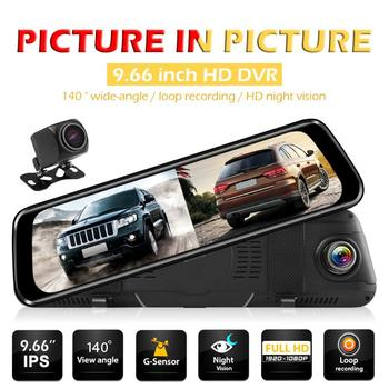 1080P Starlight Night Vision Rearview Mirror Dashcam Lightness and Portability No Space Occupy and Rear View Camera