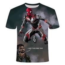 Популярная футболка в европейском и американском стиле с 3D-принтом «мстители»