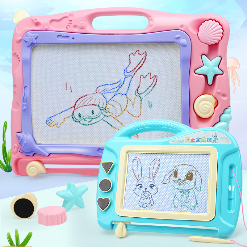 Children Multi-functional Color Magnetic Graffiti Sketchpad Cartoon Educational Writing Board Stamp Infants Painted Toys Board