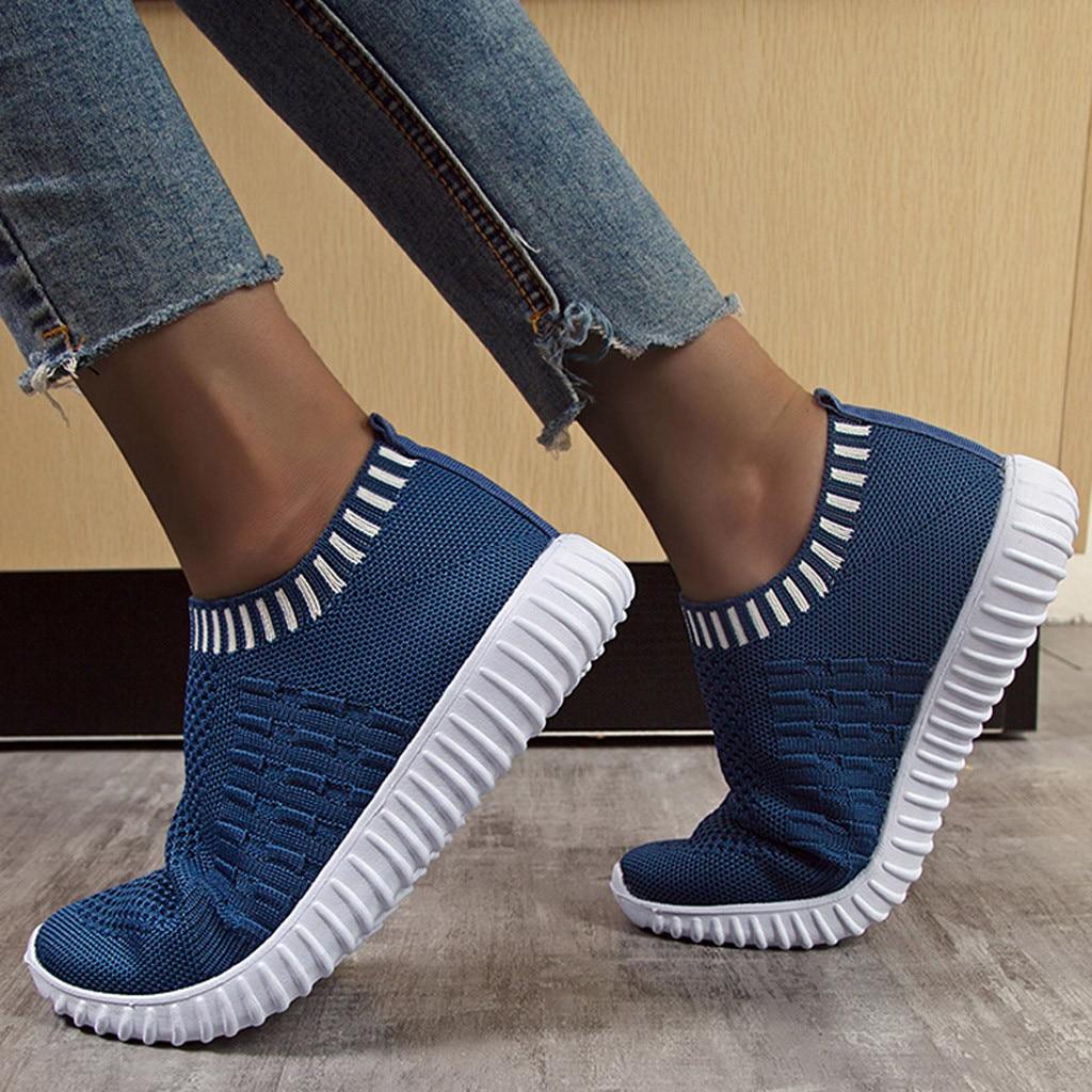 Fashion Sneakers Summer Women Vulcanized Shoe Women Trainers Casual Slip On Socks Shoes Ladies Sneakers White Zapatillas Mujer