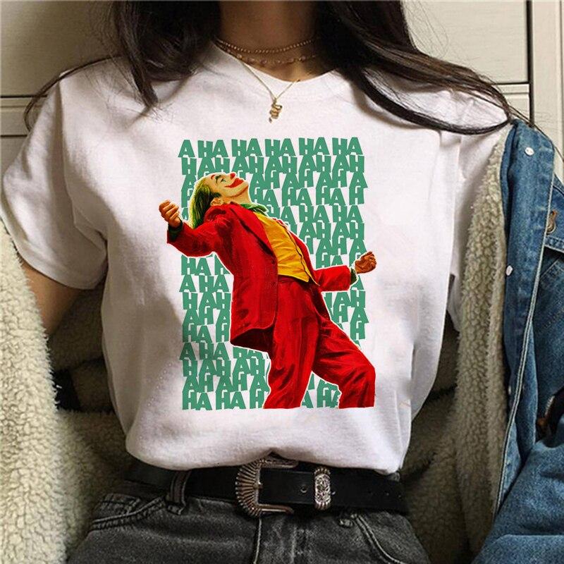 Fashion Summer New White Casual female 80s 90s TShirt Unisex Streetwear T Shirt Joker 2019 Joaquin Phoenix Funny T-shirt women