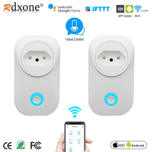 WIFI Smart Brazil Plug with  Power Monitor BR Smart Socket Wireless Outlet Voice Control Work with Alexa Google home