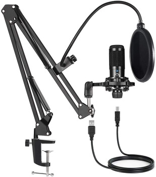 New Arrivals bm 800 Microphone for Computer Youtube Gaming Recording Studio USB Condenser Microphone Kits with Stand microfono cardioid directional condenser microphone for youtube broadcast gaming usb microphone for computer recording mic with stand