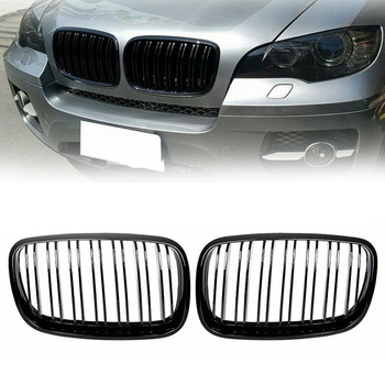 2pcs Set Car Grille High Quality For BMW E70 E71 2008-2013 ABS Black Car Front Grille Car Accessories