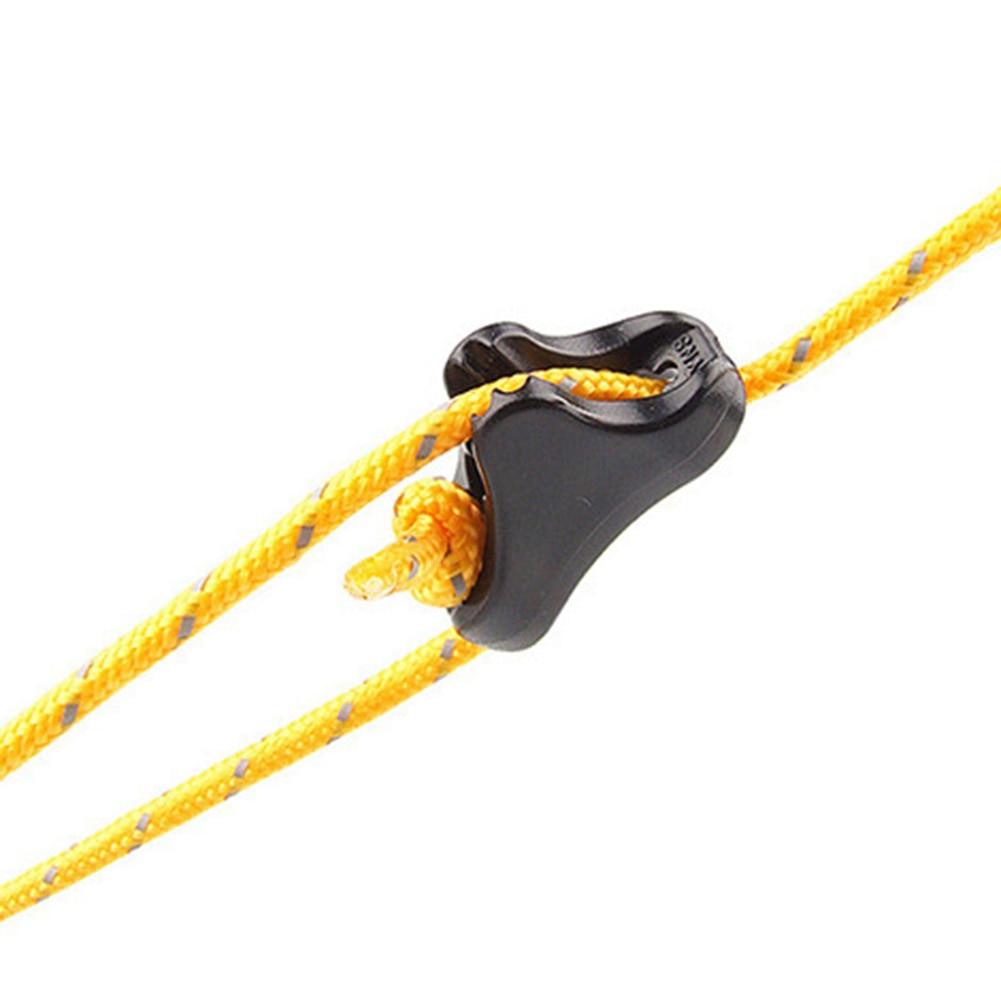 10 шт.% 2 комплекта открытый кемпинг альпинизм палатка веревка пряжка навес ветрозащитный веревка пряжка треугольник пластик регулируемый противоскользящий пряжка
