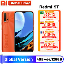 Câmera traseira 128 mah do snapdragon 662 48mp do smartphone da versão global da estreia do mundo xiaomi redmi 9t 4gb 64gb/4gb 6000 gb
