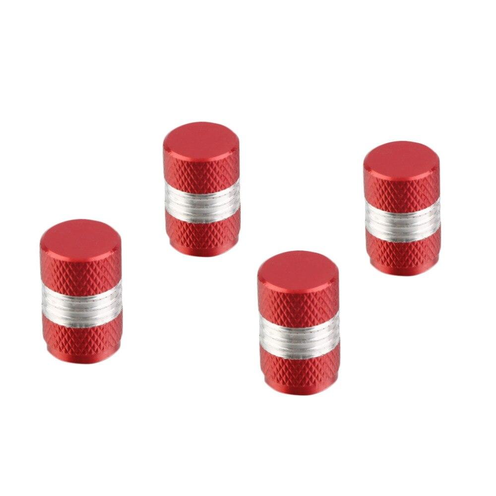 4x Car Red Aluminum Tire Rim Valve Wheel Air Port Stems Cap Cover Accessories